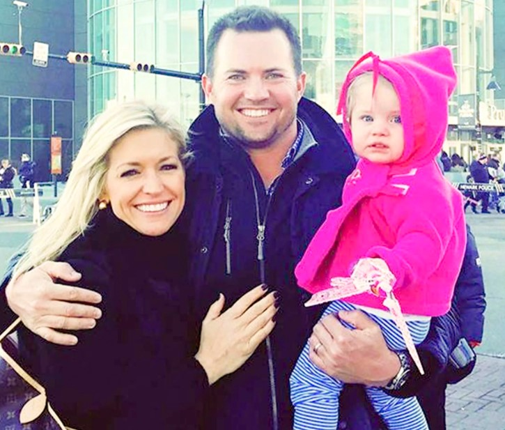 Ainsley Earhardt, her former husband Will Proctor, and their child.