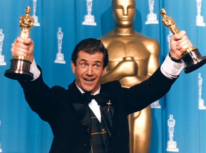 Mel Gibson won 2 Oscars for Best Picture and Best Director for Braveheart in 1996.