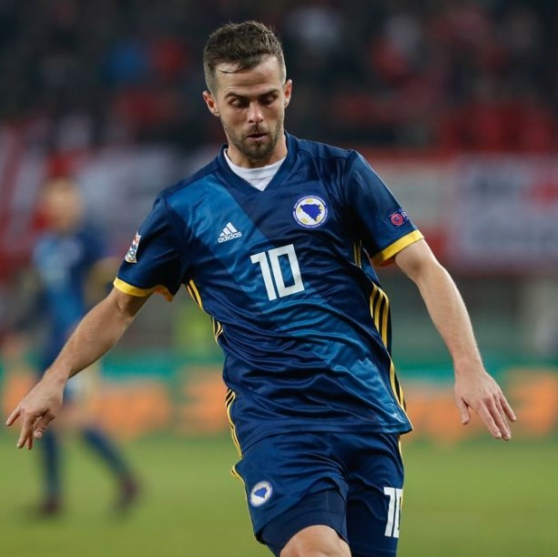 Miralem Pjanic made his senior intermational debut in August 2008 against Bulgaria.