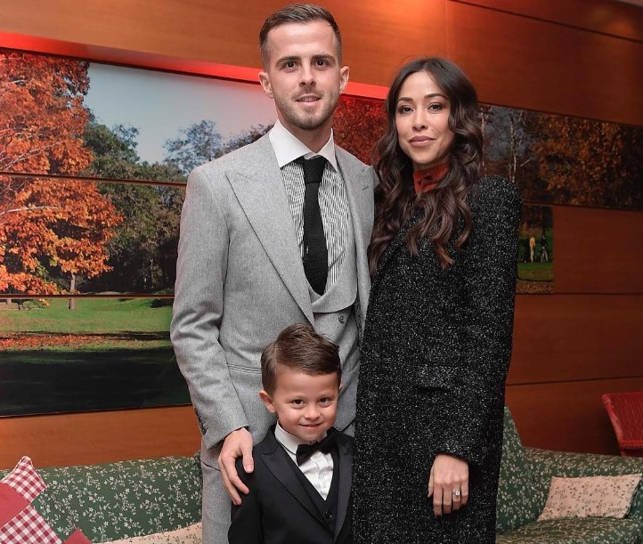 Pjanic, his longtime girlfriend, Josepha, and their son.
