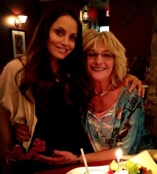 Trish Stratus and her mother.