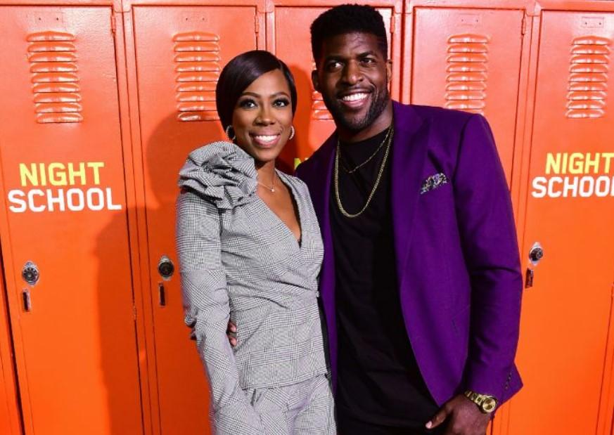 Yvonne Orji and her former boyfriend, Emmanuel Acho, a NFL star.