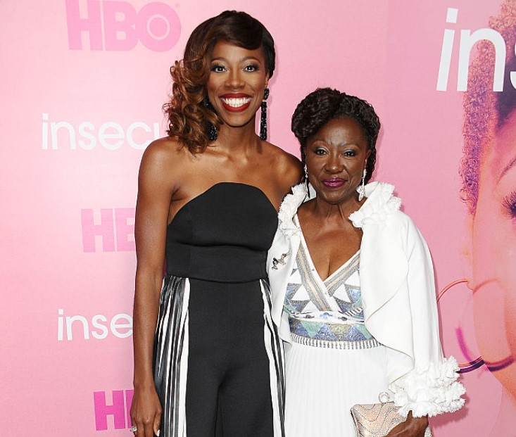 Yvonne Orji and her mother.