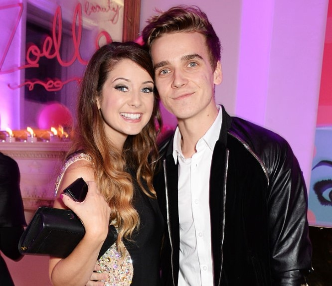 Zoe Sugg and her brother, Joe.