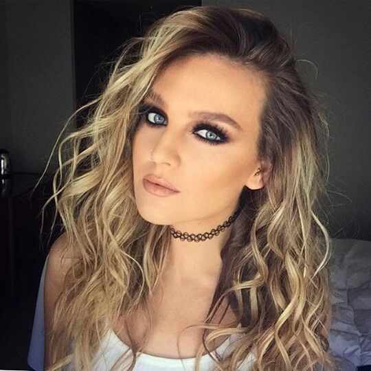 Perrie Edwards curly hair